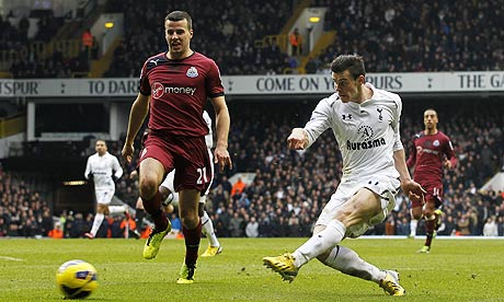 Tottenham Hotspur's Gareth Bale scores against Newcastle United